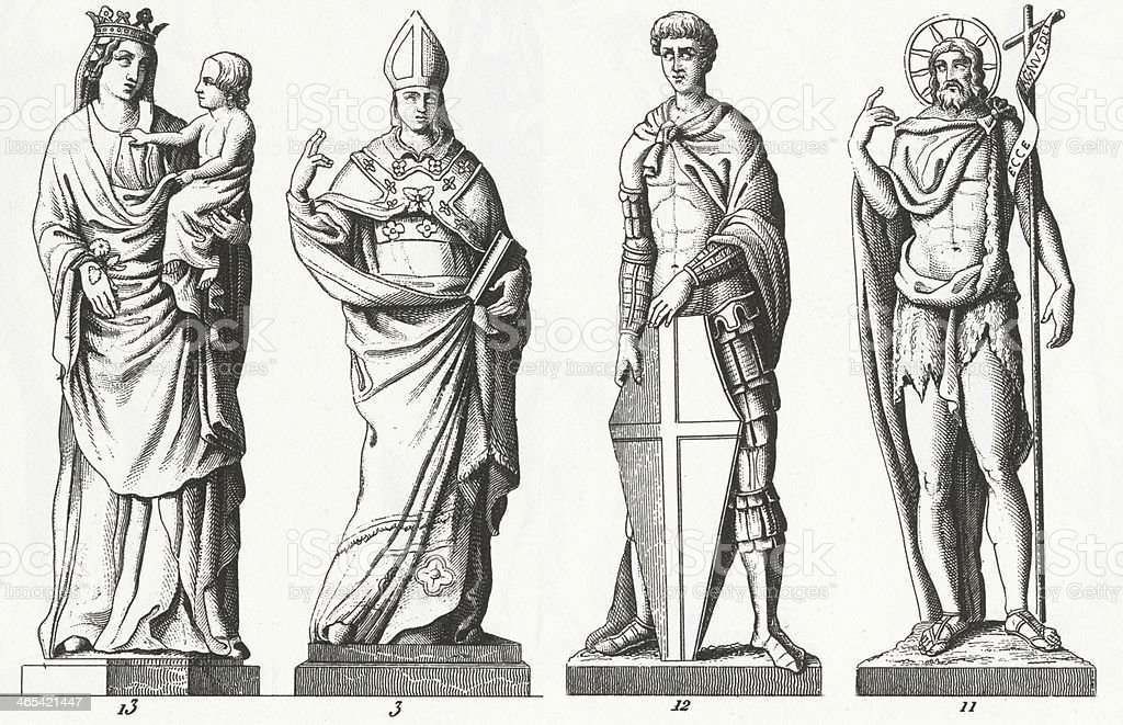 Renaissance Sculpture royalty-free stock vector art