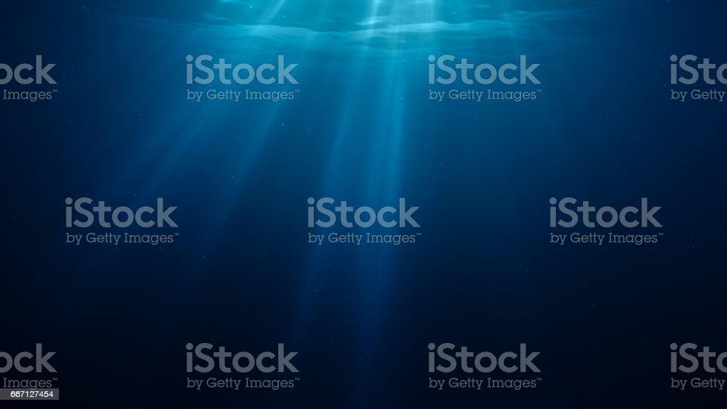 3D rendered illustration of sun light rays under water. vector art illustration