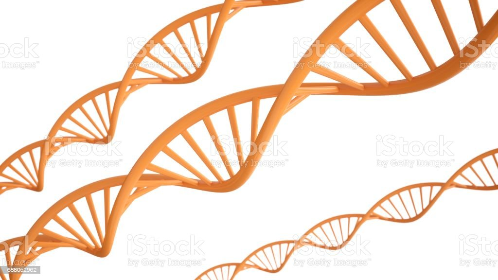 3D rendering DNA structure abstract background vector art illustration