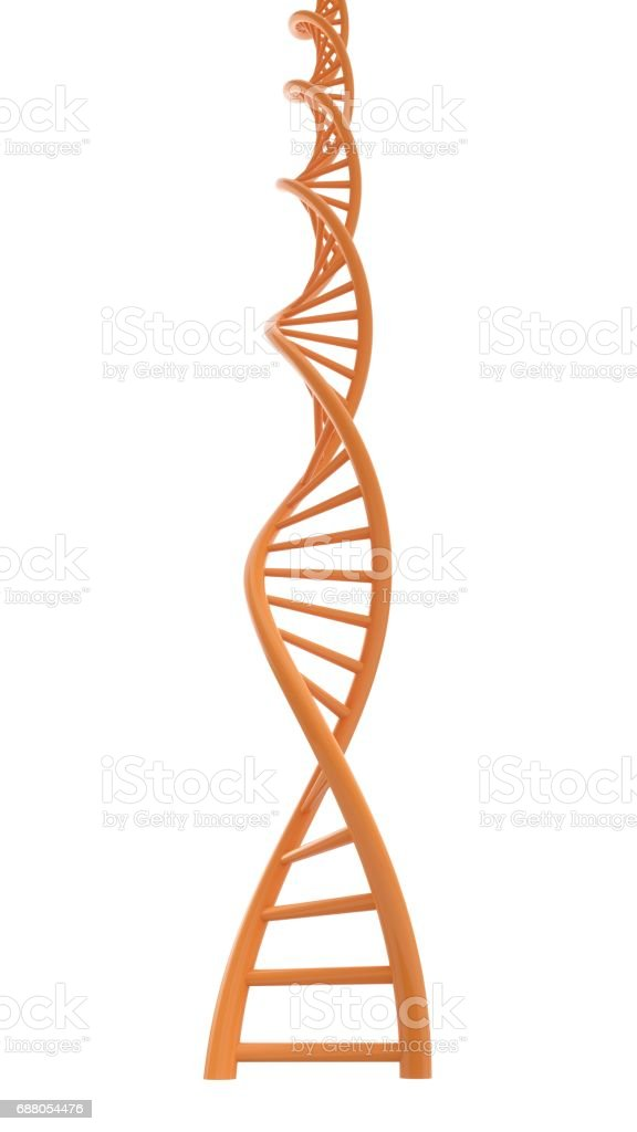 3D rendering DNA structure abstract background stock photo