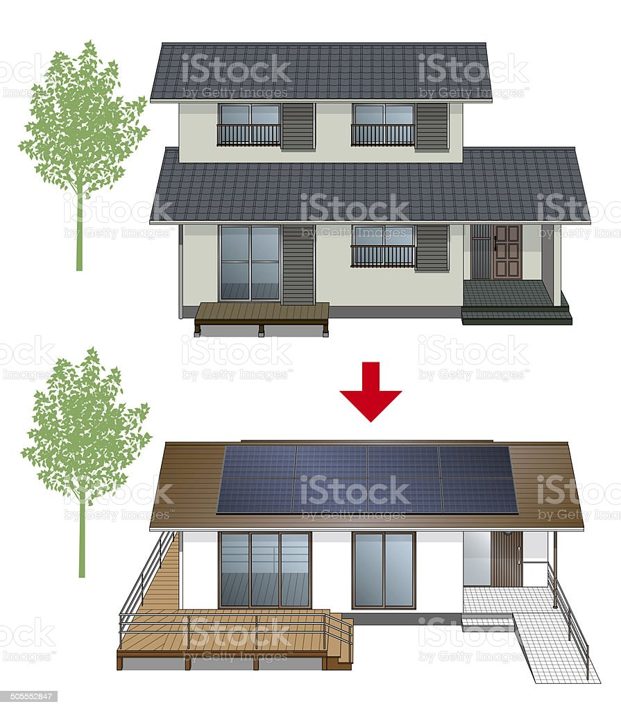 Renovation of the house. vector art illustration