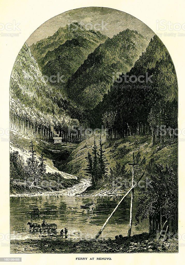 Renovo, Pennsylvania royalty-free stock vector art