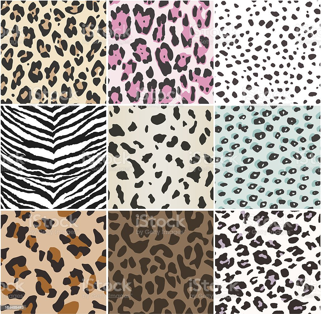 repeated animal skin pattern royalty-free stock vector art