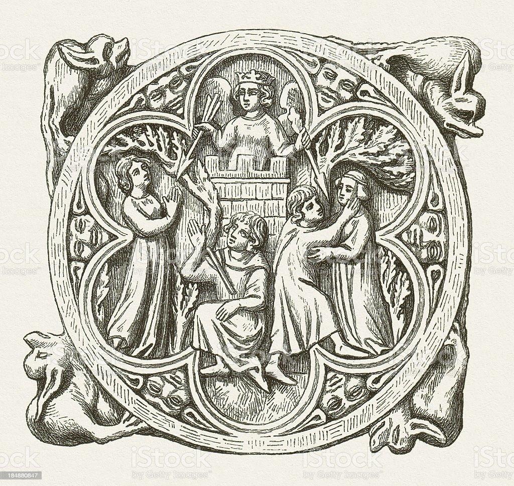 Representation of Lady Love (Minne) royalty-free stock vector art
