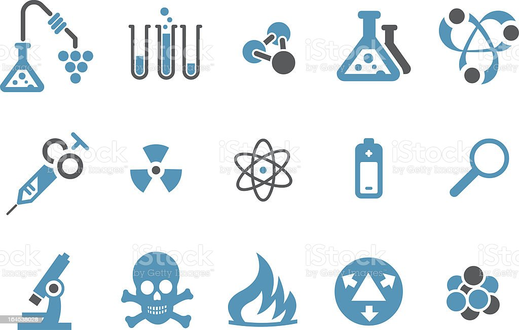 Research icon set royalty-free stock vector art