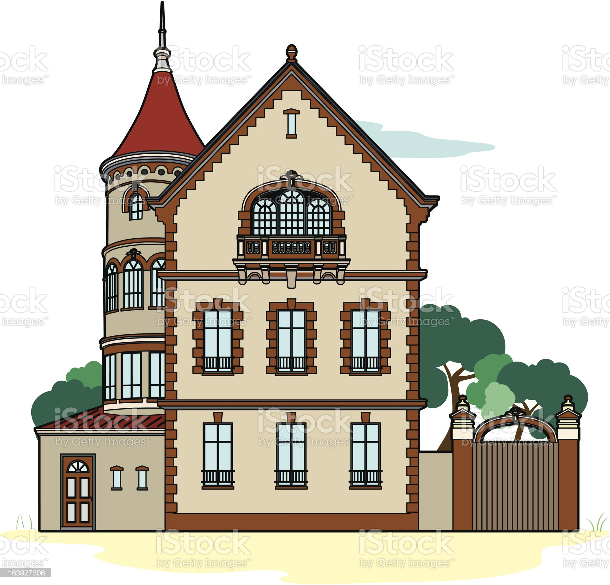 Residence ocher royalty-free stock vector art