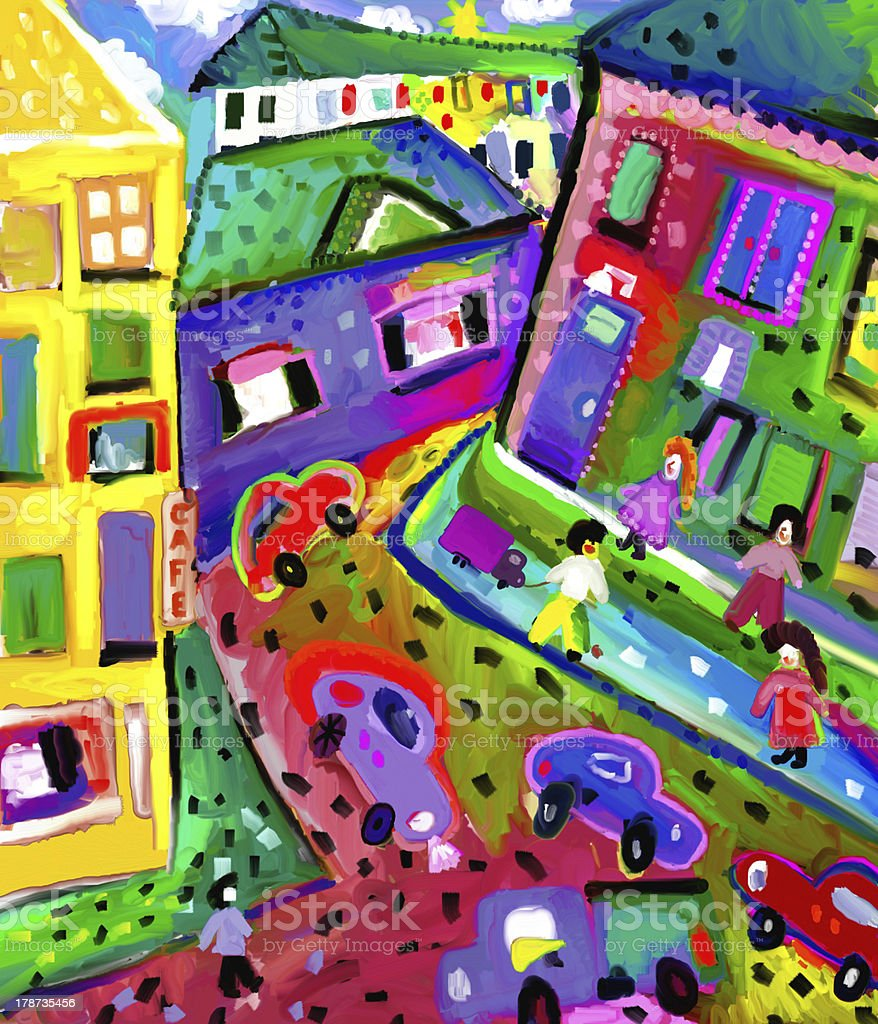 Residential quarter royalty-free stock vector art