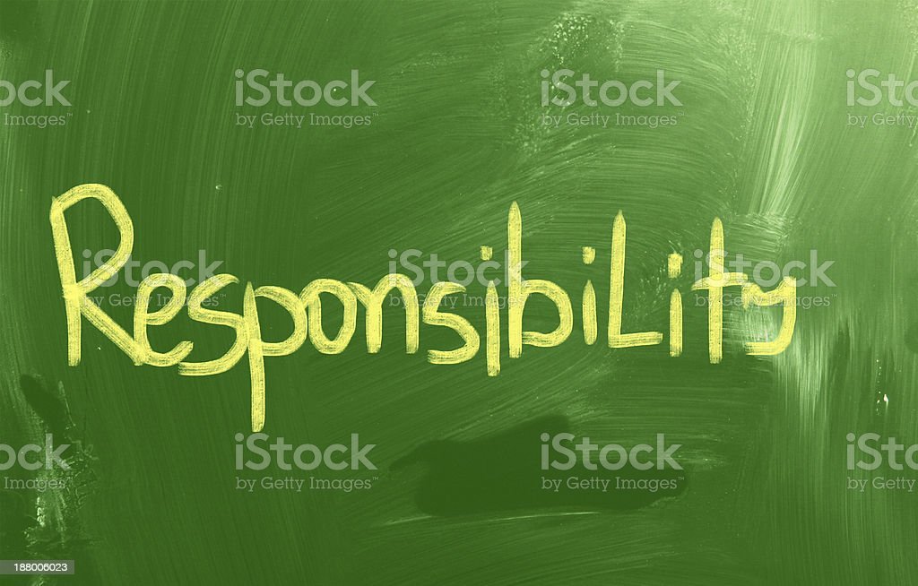 Responsibility Concept royalty-free stock vector art