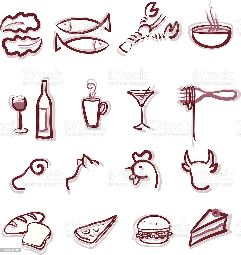 Restaurant menu royalty-free stock vector art