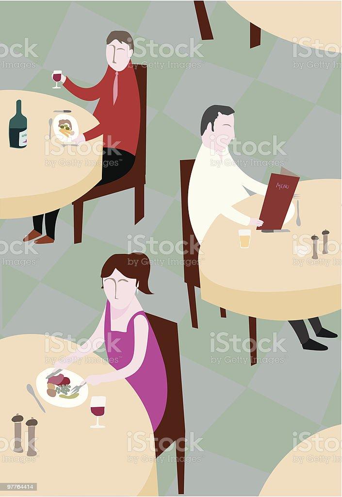 Restaurant tables royalty-free stock vector art