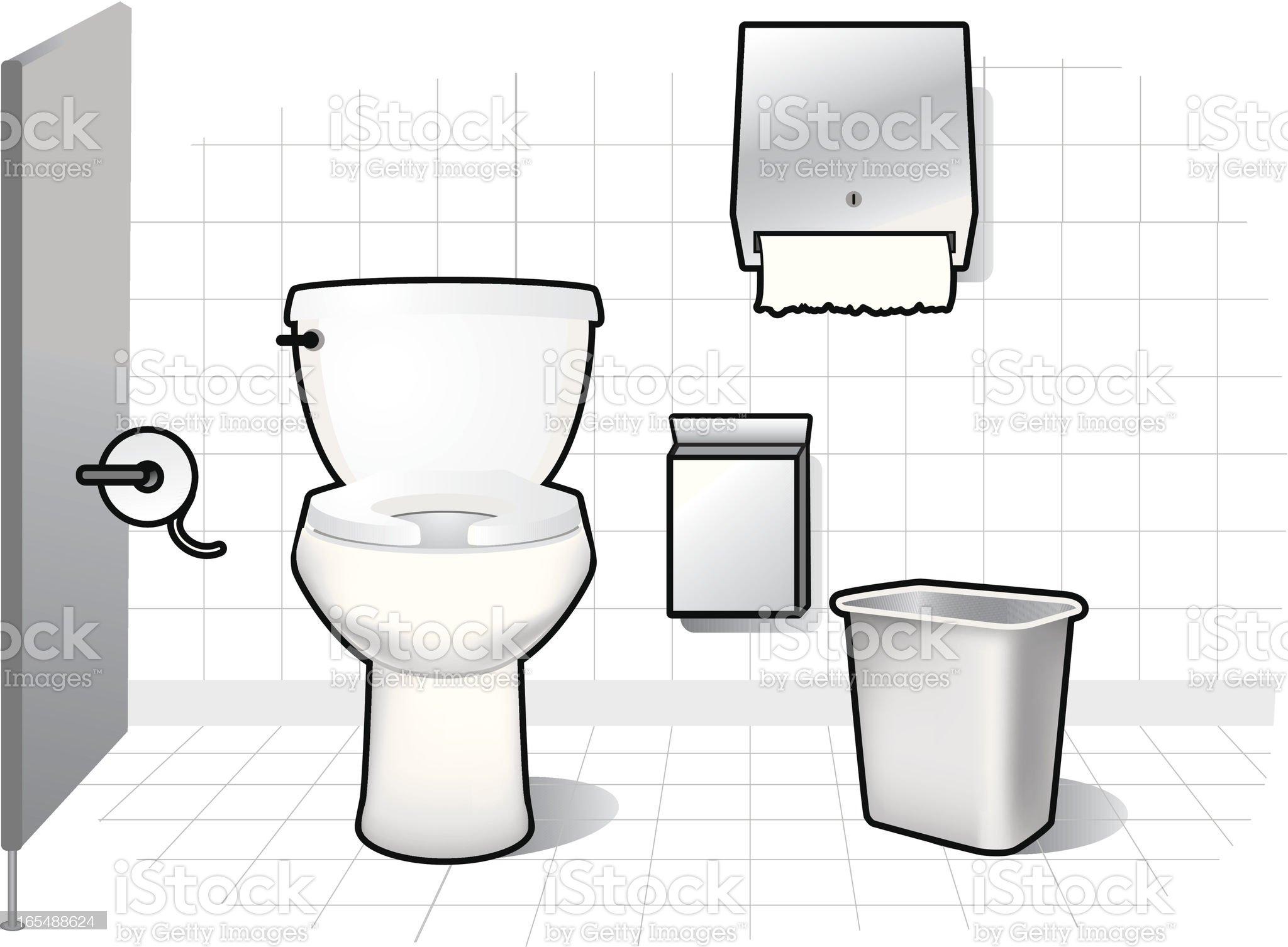 Restroom Elements royalty-free stock vector art