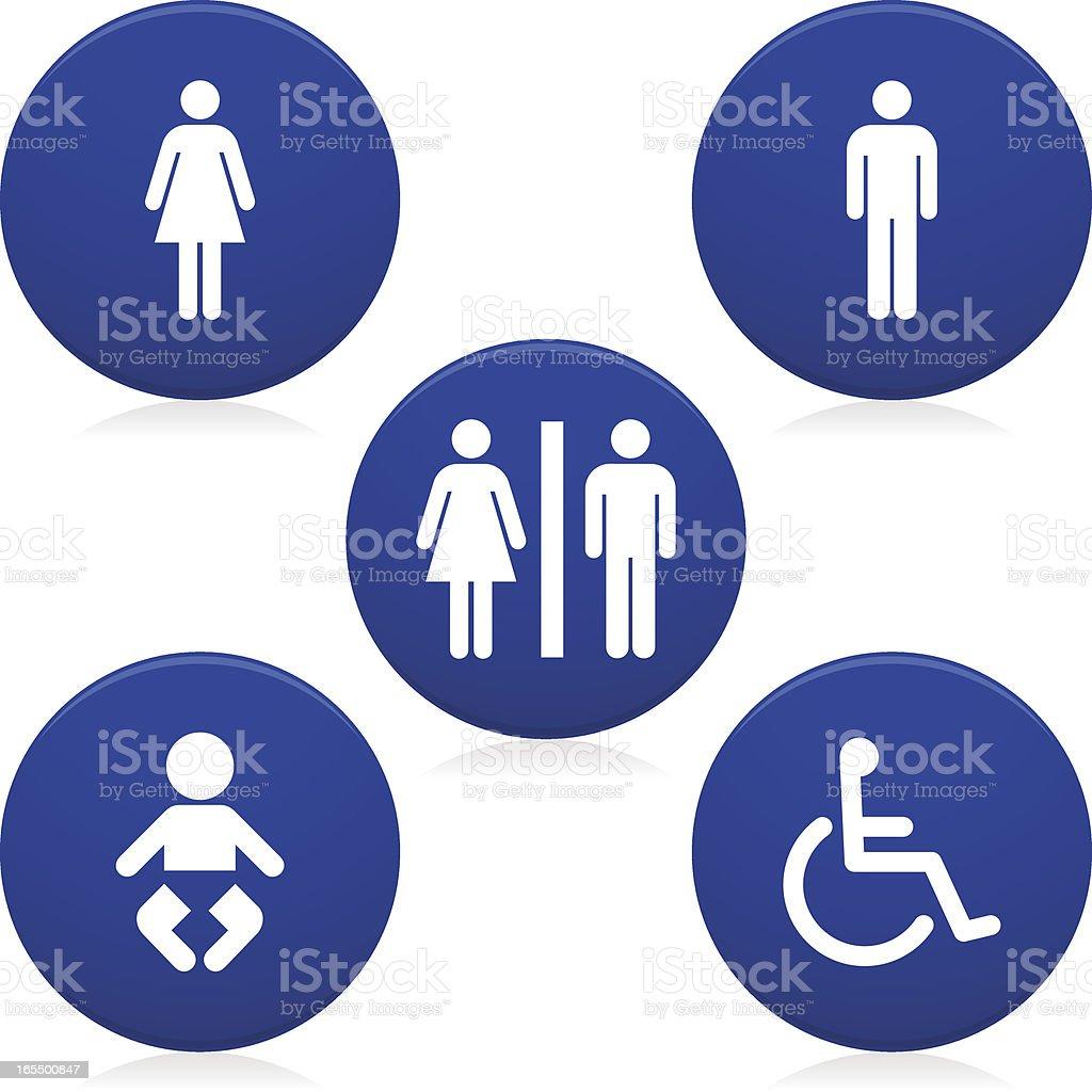 Restroom / Toilet Icons vector art illustration