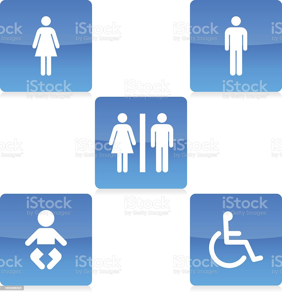 Restroom / Toilet Icons vector art illustration
