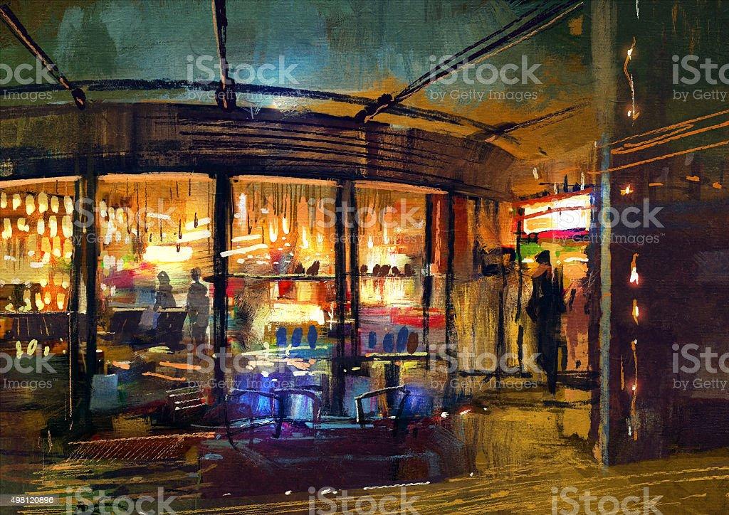 retail shop entrance in store vector art illustration