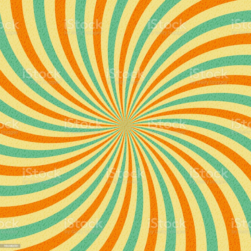 Retro abstract hypnotic background. vector illustration royalty-free stock vector art