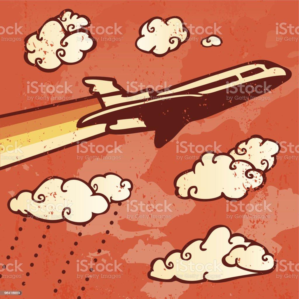 Retro Air Travel royalty-free stock vector art