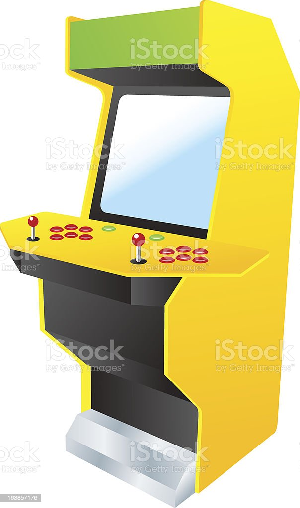 retro arcade video games machine royalty-free stock vector art