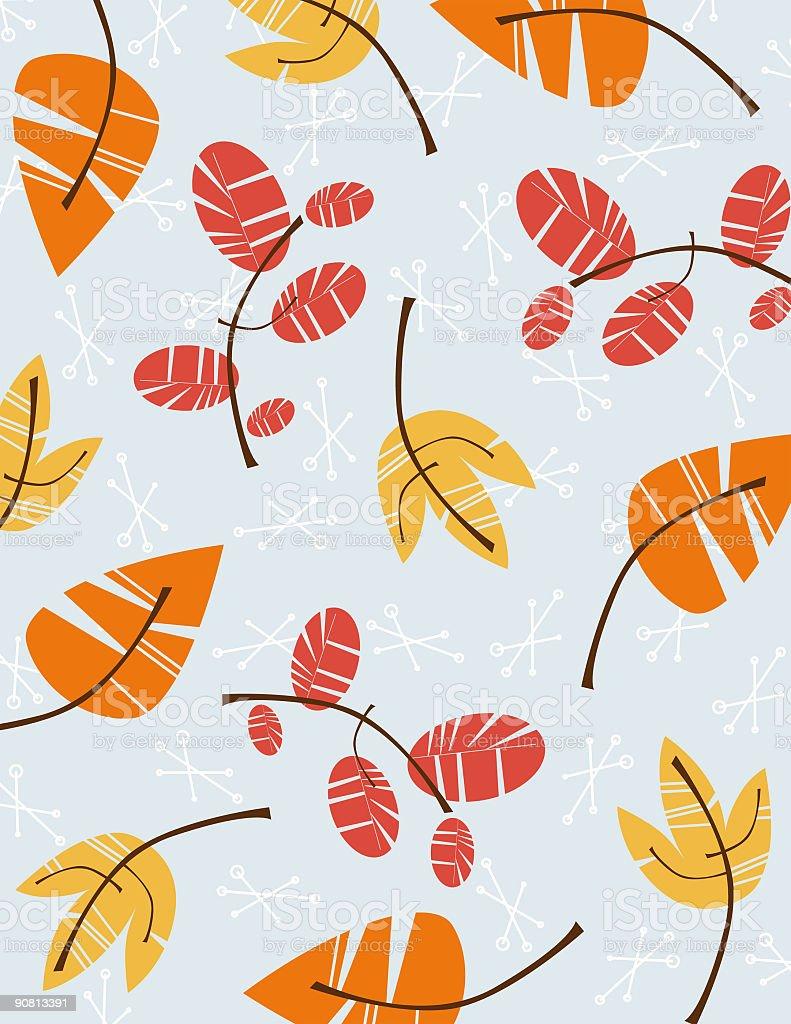 Retro Autumn Pattern royalty-free stock vector art