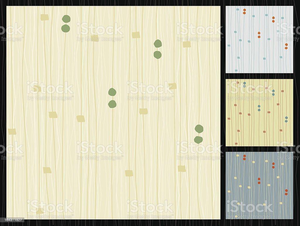 Retro Barkcloth Lined Fabric vector art illustration