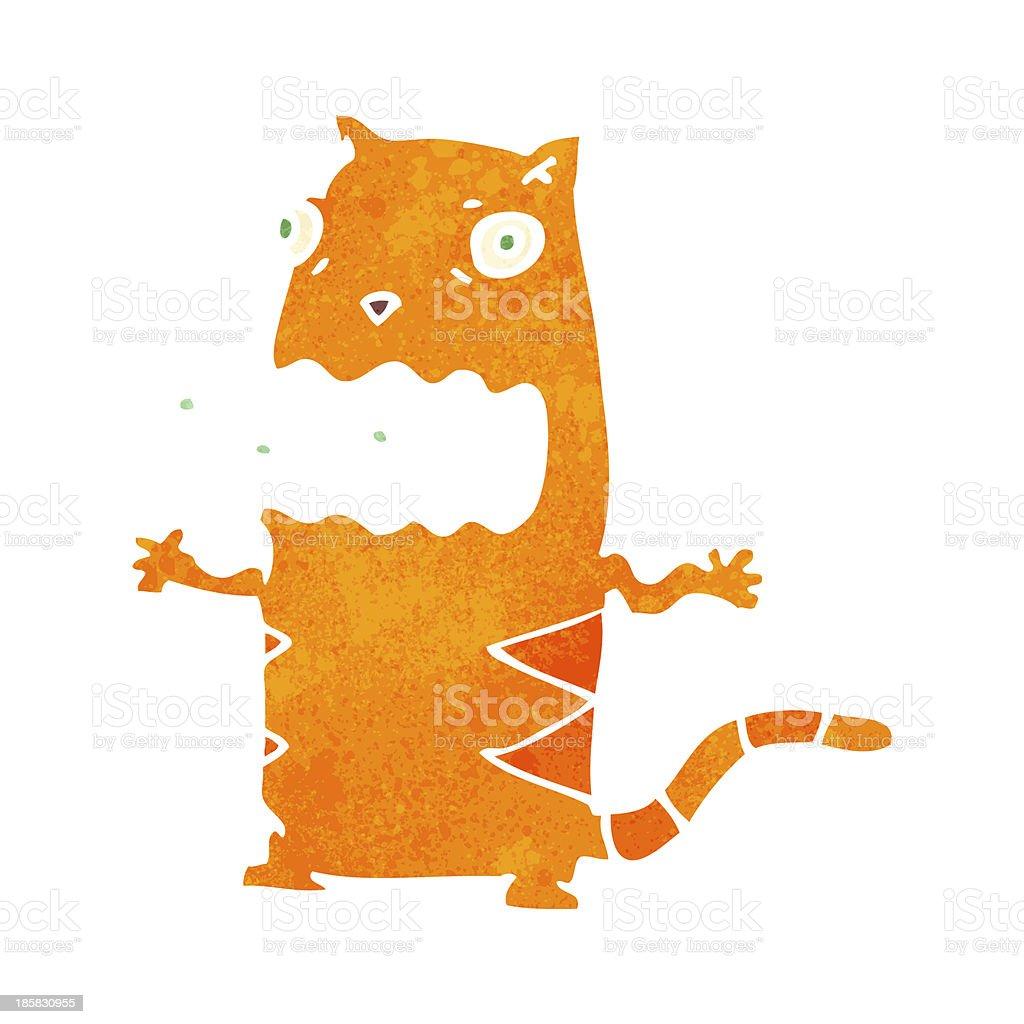 retro cartoon gross cat royalty-free stock vector art