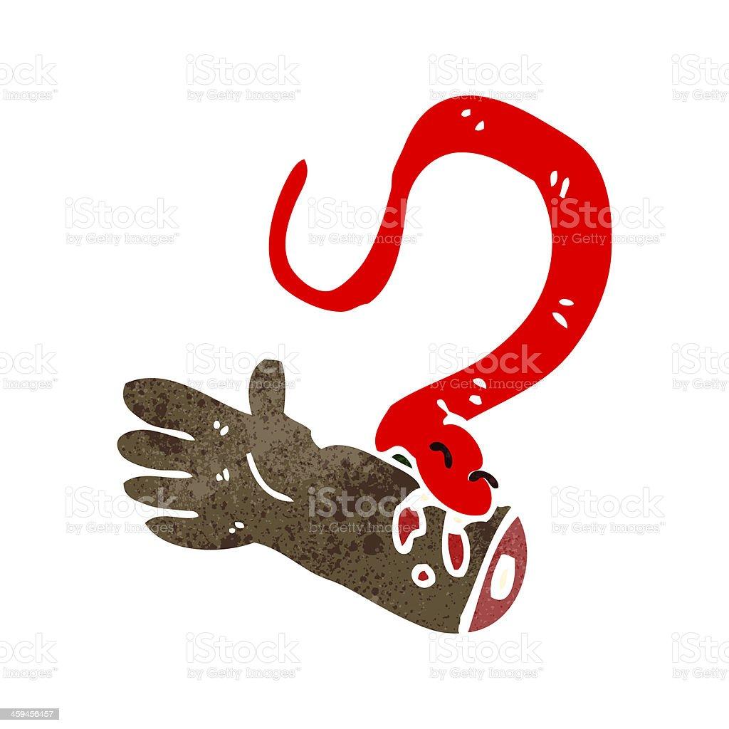 retro cartoon poisonous snake royalty-free stock vector art
