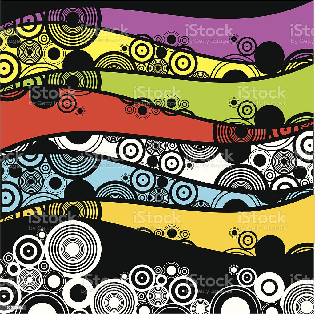 Retro circles royalty-free stock vector art