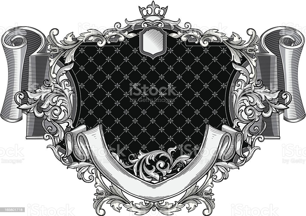 Retro decorative emblem vector art illustration