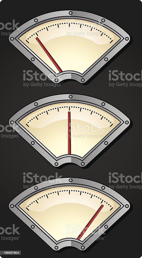 retro dials royalty-free stock vector art