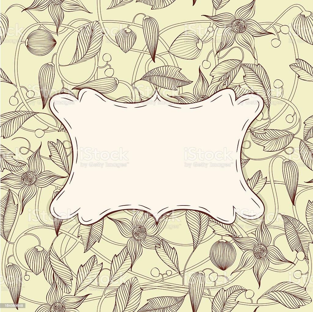 Retro floral frame. royalty-free stock vector art