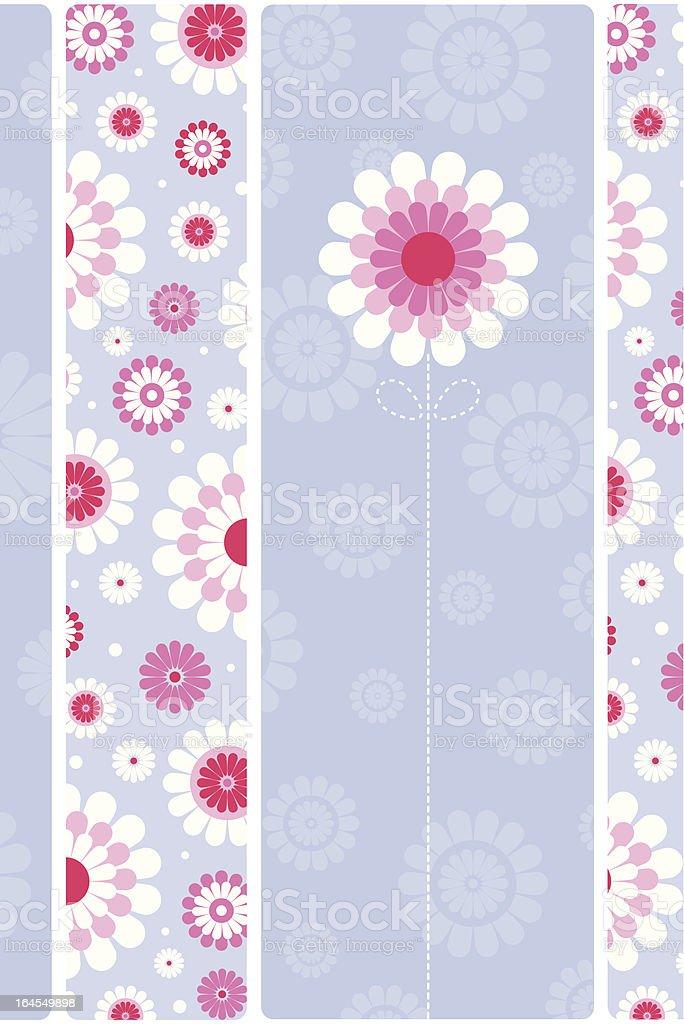 Retro Floral Pattern & Flower Design. royalty-free stock vector art