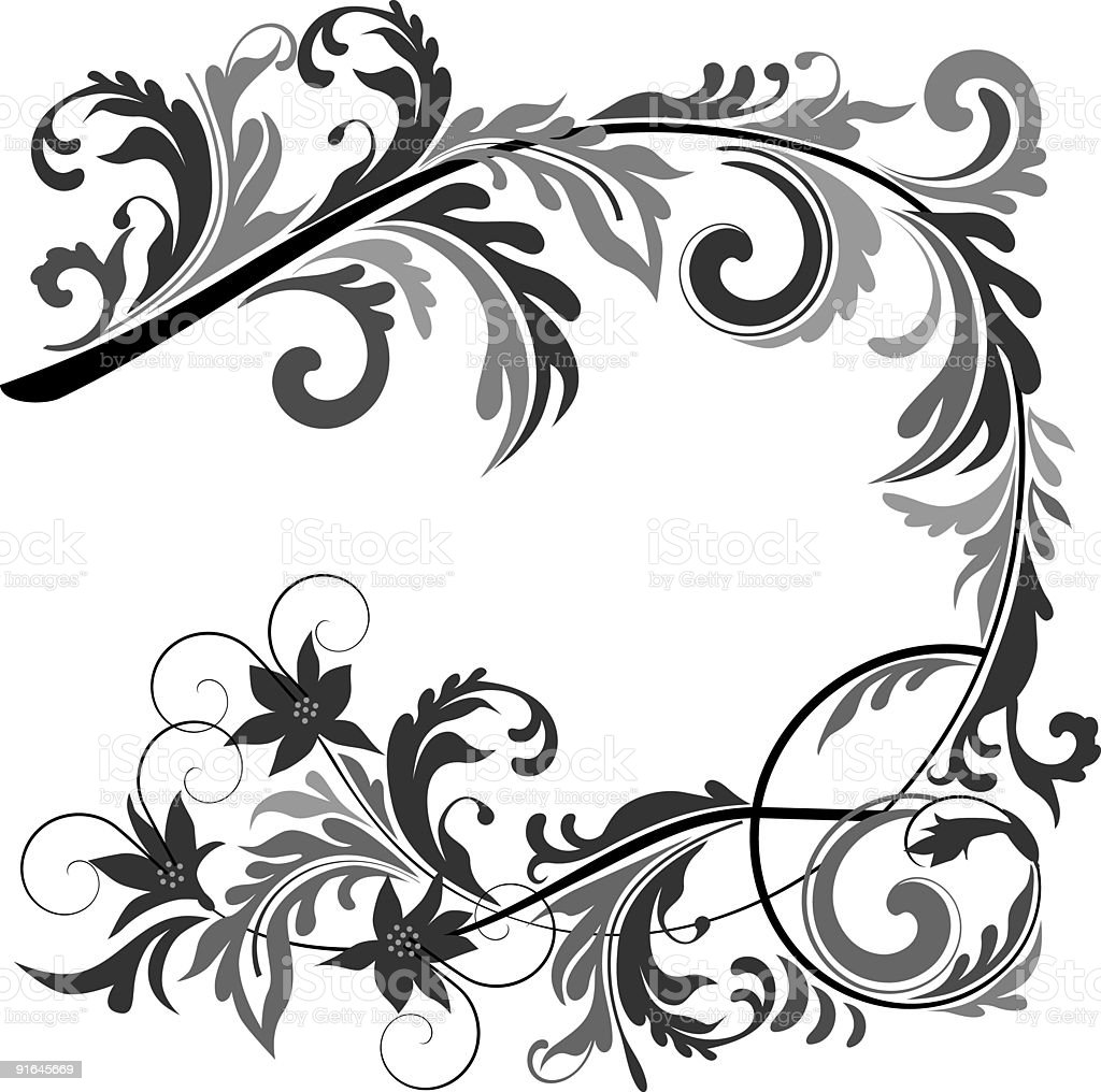 Retro floral pattern I royalty-free stock vector art