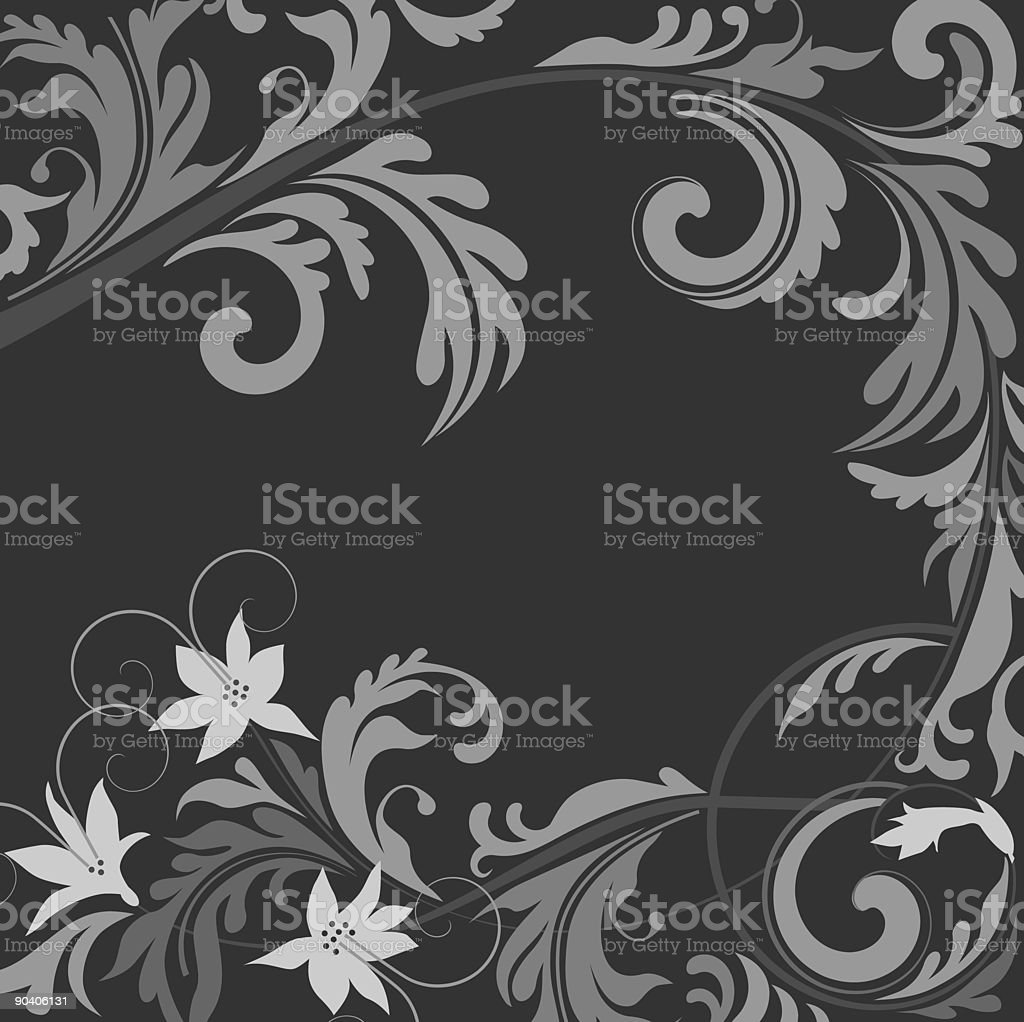 Retro floral pattern II royalty-free stock vector art