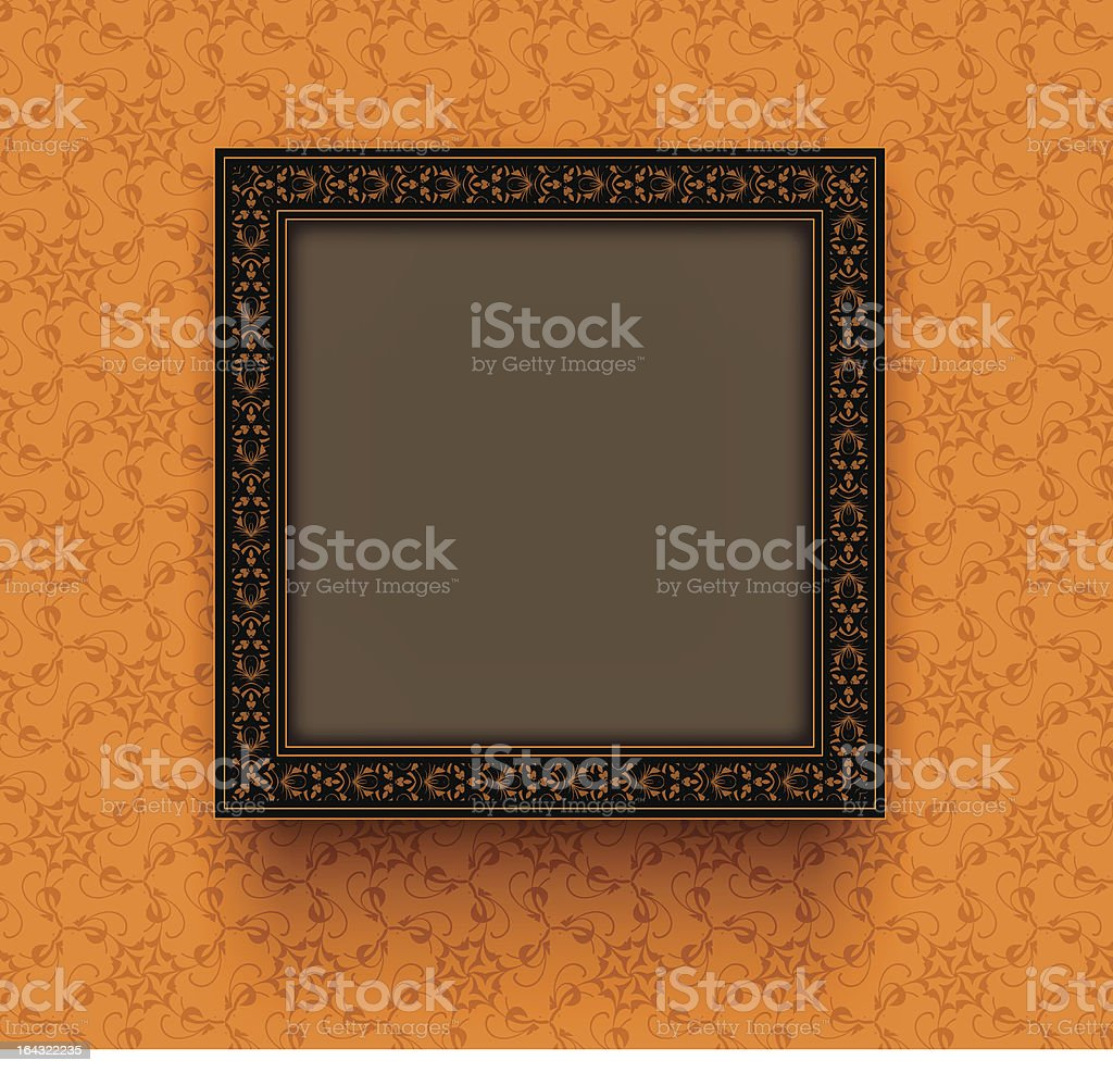 Retro frame was decorated a decorative ornament royalty-free stock vector art