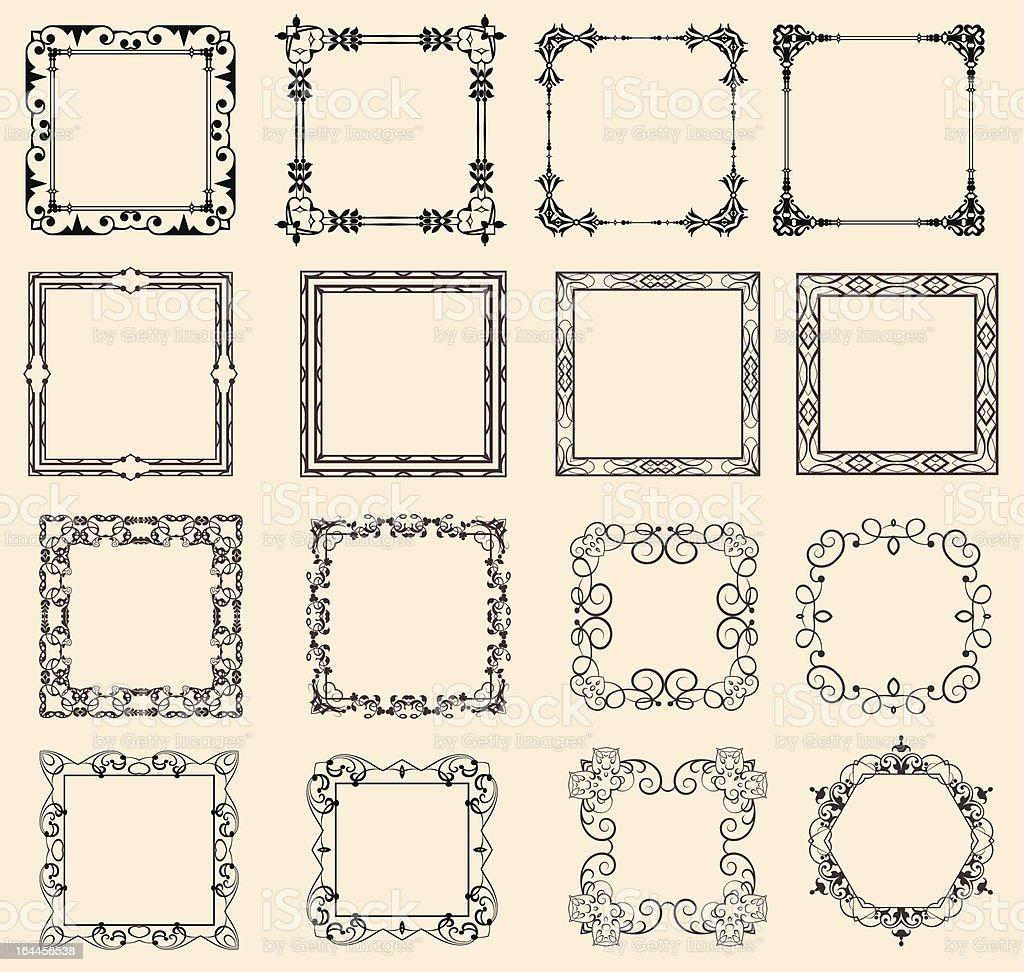 Retro Frames set 5 royalty-free stock vector art