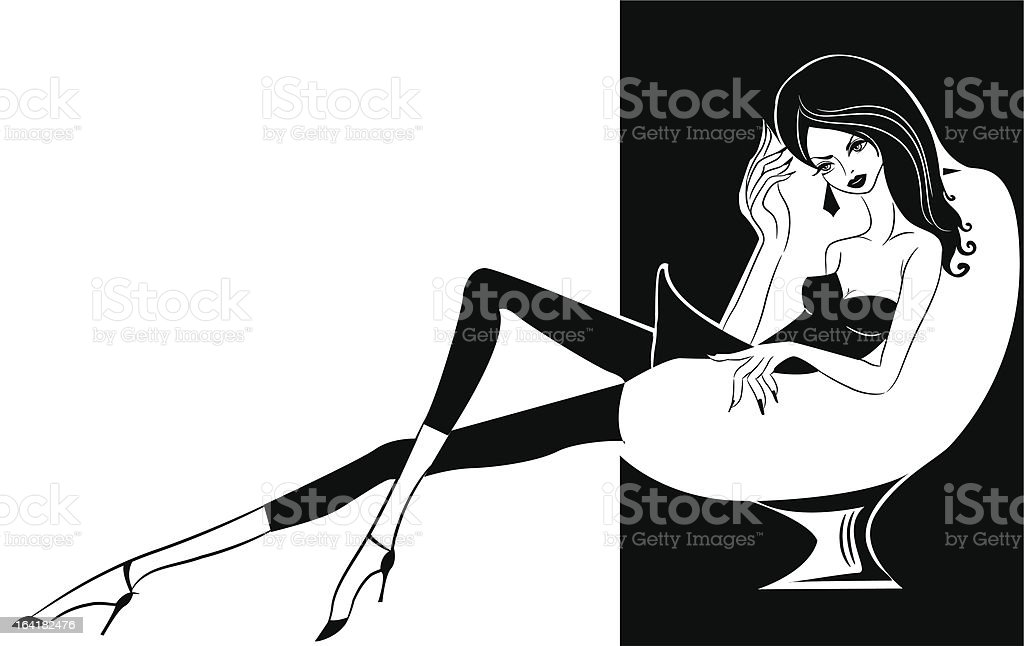 Retro glamour royalty-free stock vector art