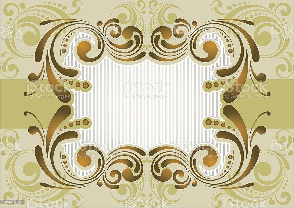 Retro golden background royalty-free stock vector art