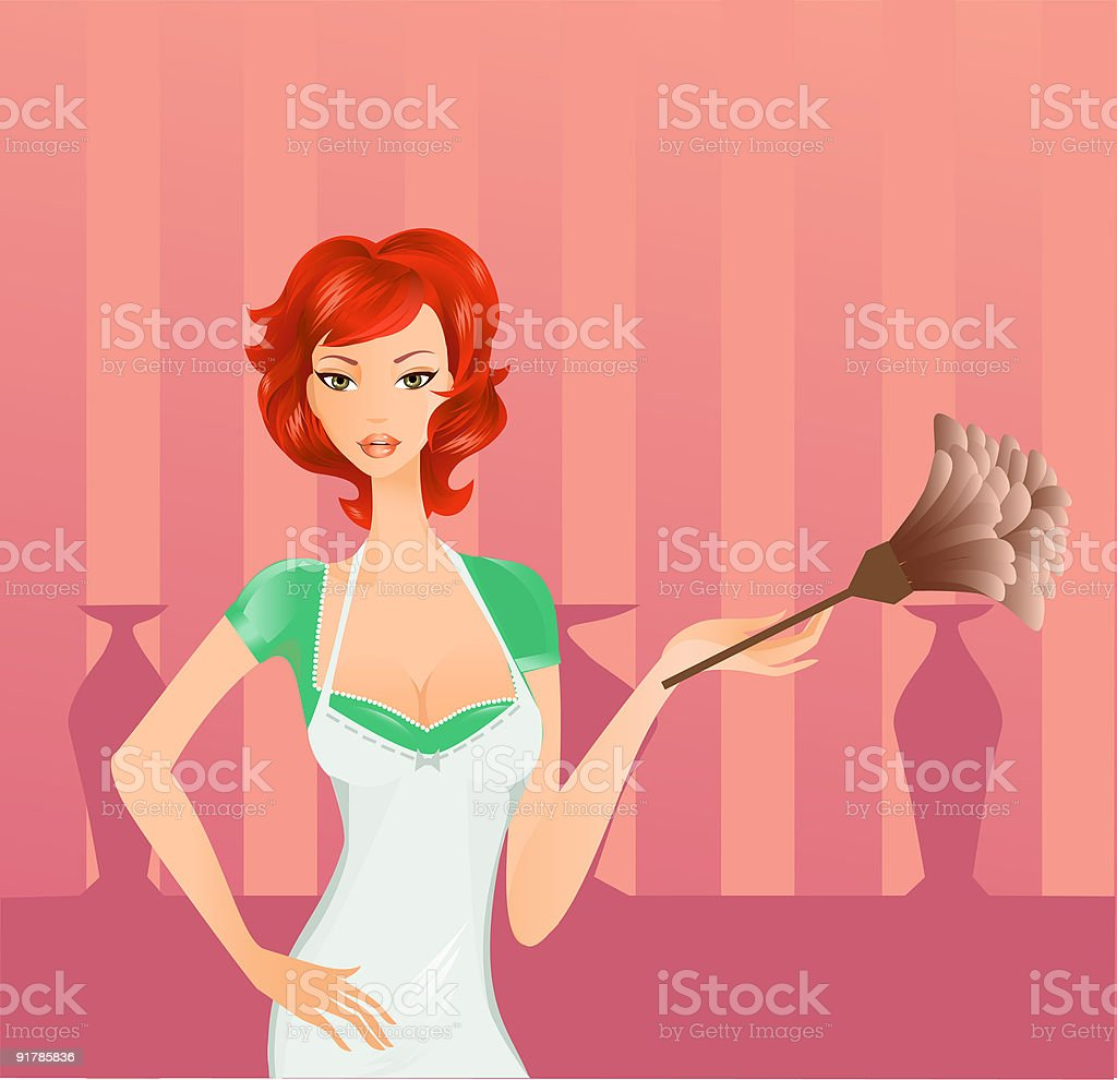 Retro Housewife royalty-free stock vector art