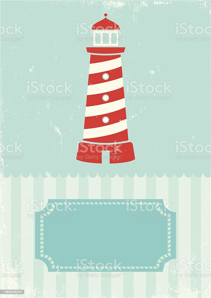 Retro illustration lighthouse royalty-free stock vector art