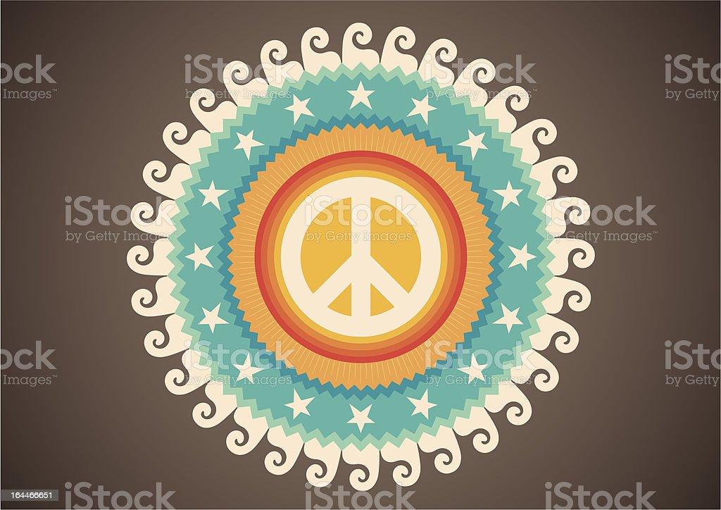 Retro illustration with peace symbol. vector art illustration