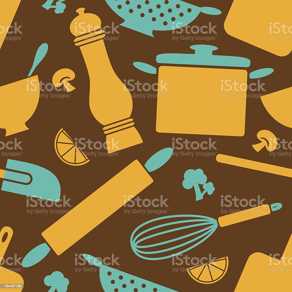 Retro Kitchen Background vector art illustration