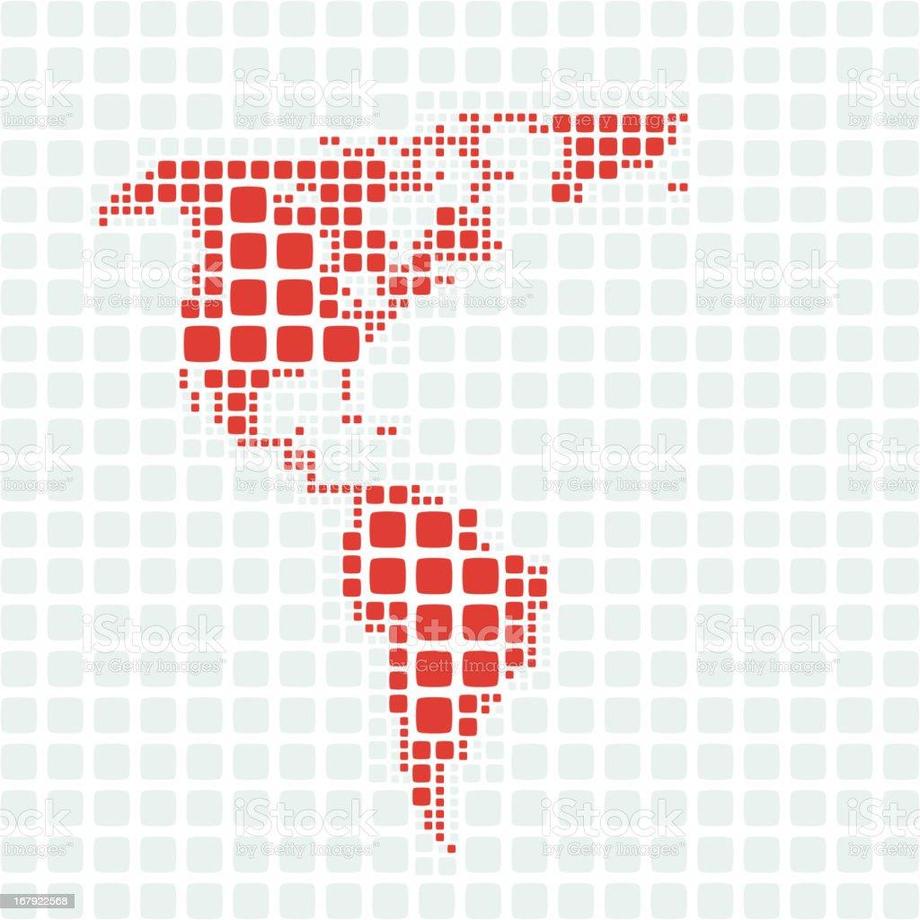 Retro Map - Americas royalty-free stock vector art