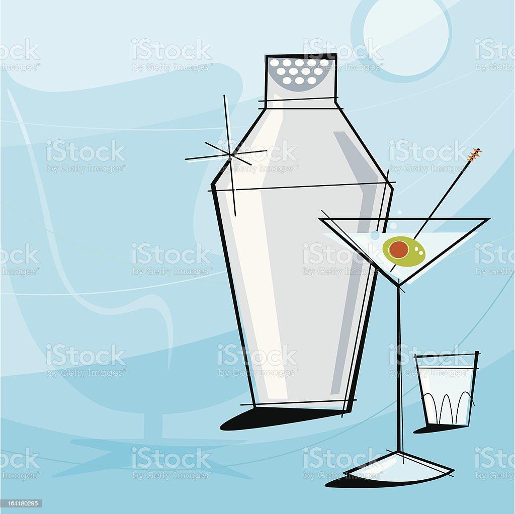 Retro Martini (Vector) vector art illustration