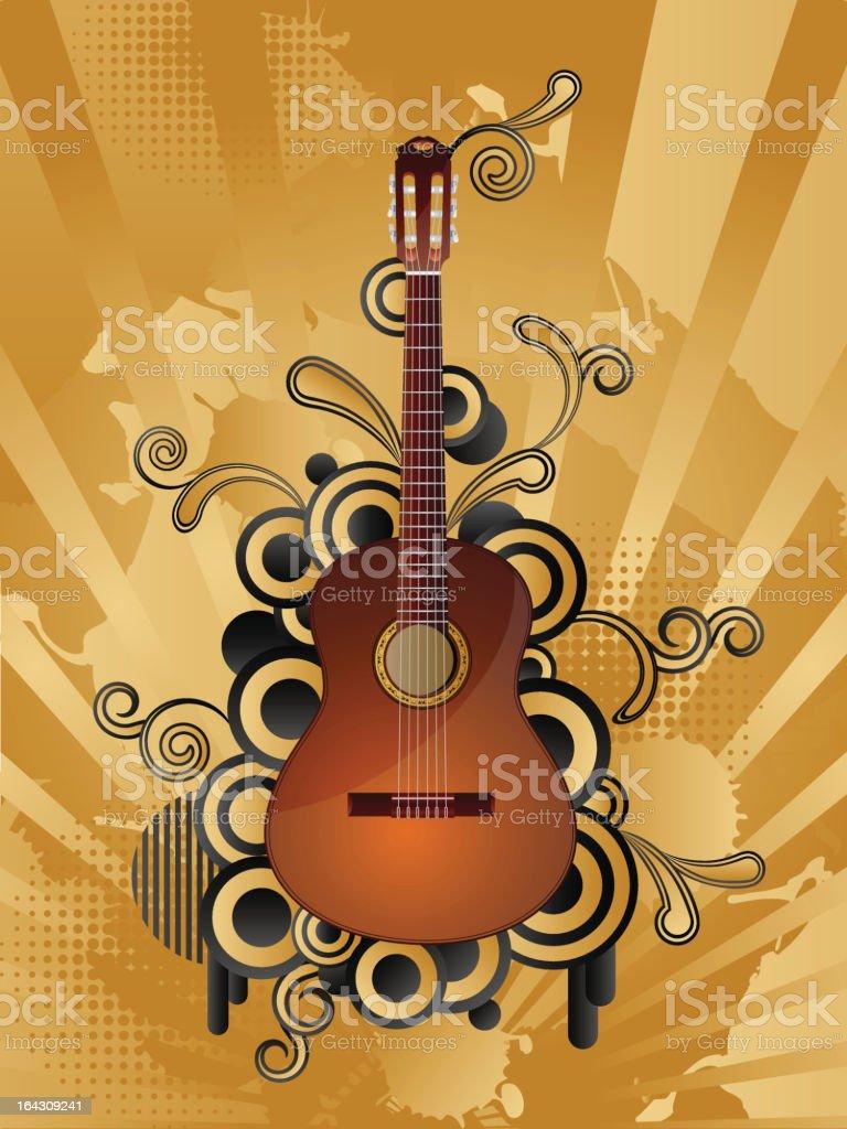 Retro music background royalty-free stock vector art
