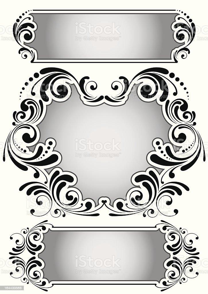 Retro ornamental frame royalty-free stock vector art