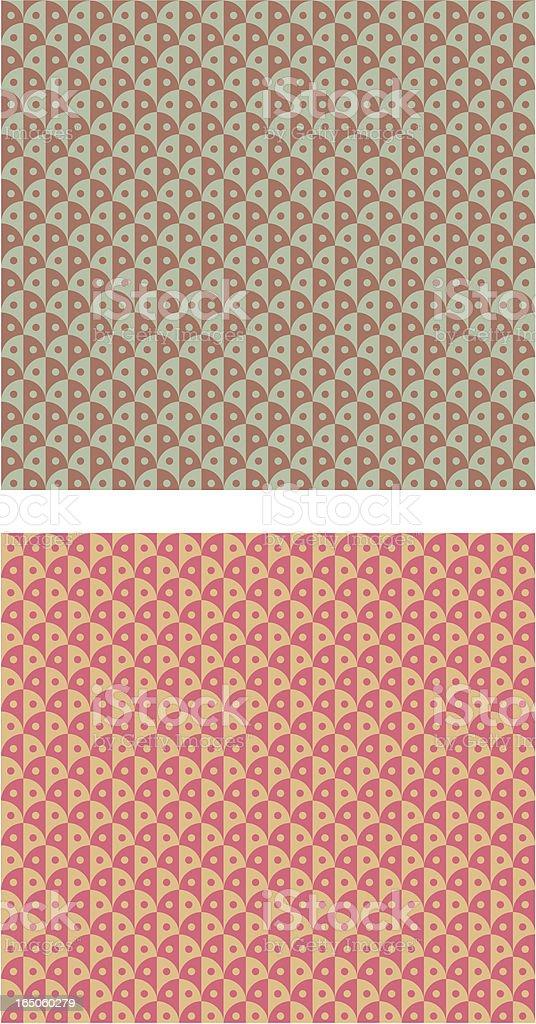 Retro pattern vector art illustration