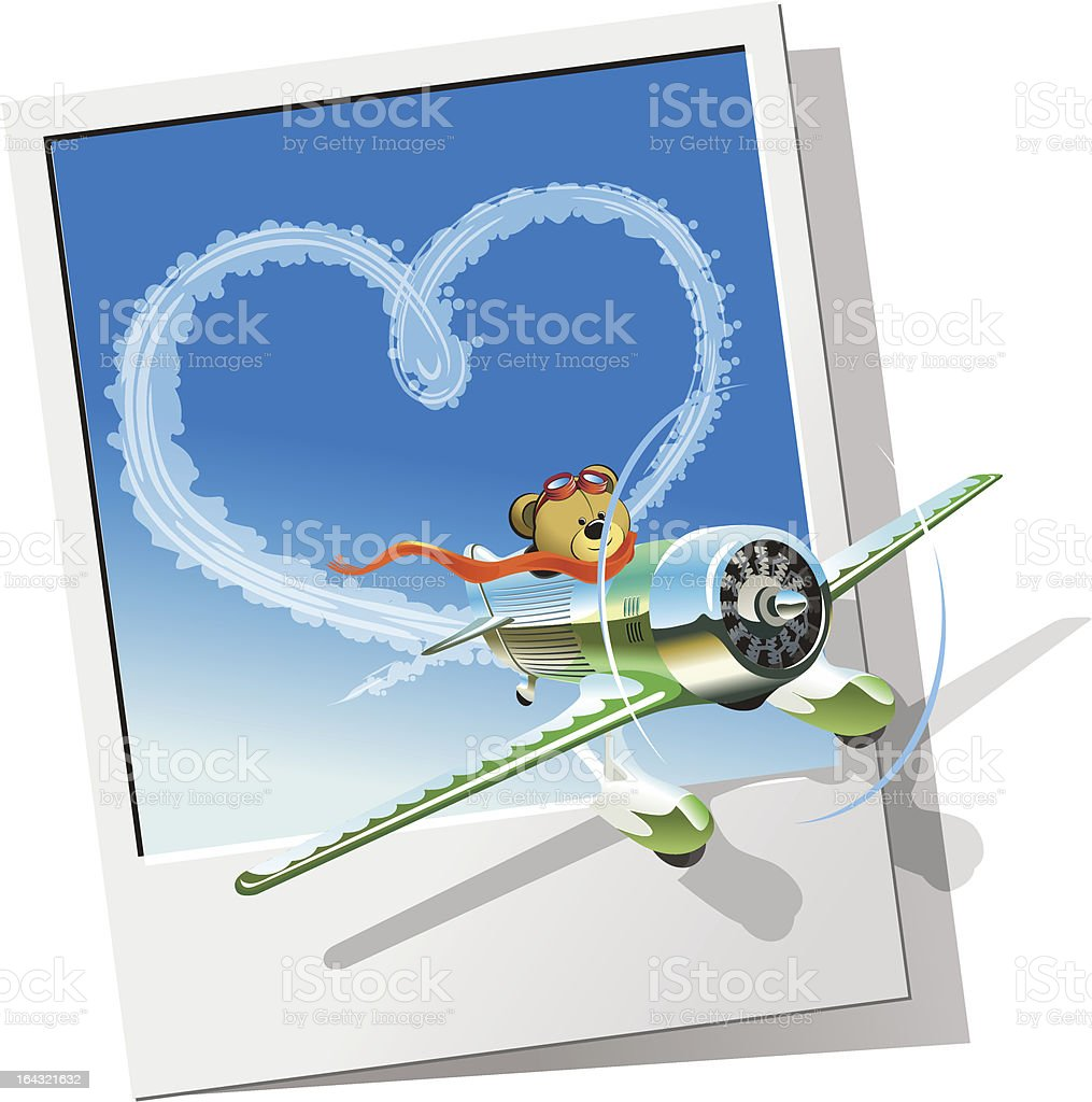 Retro racing airplane royalty-free stock vector art