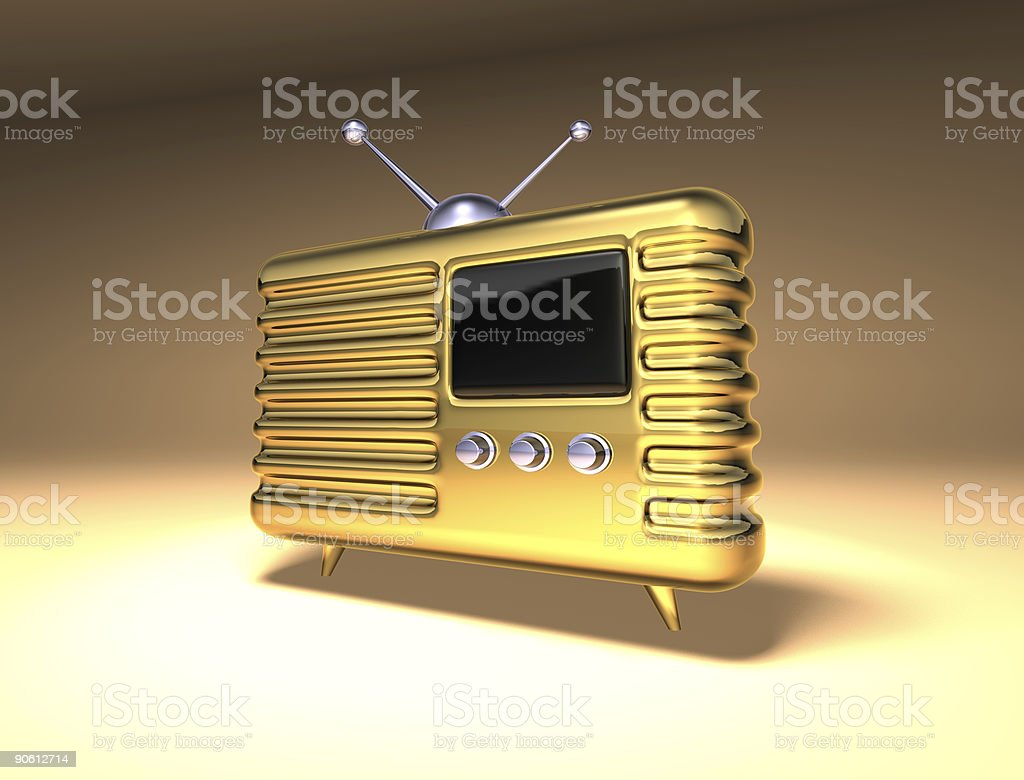Retro radio vector art illustration