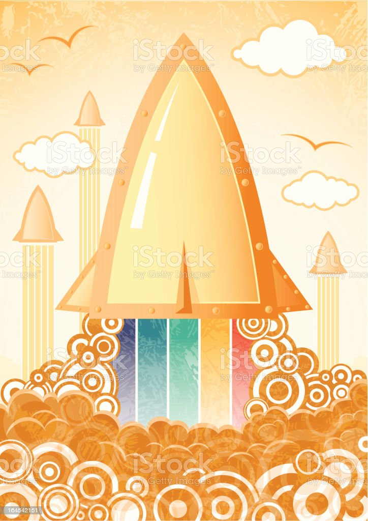 Retro rocket royalty-free stock vector art