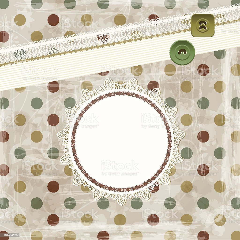 retro scrapbook spring pattern royalty-free stock vector art