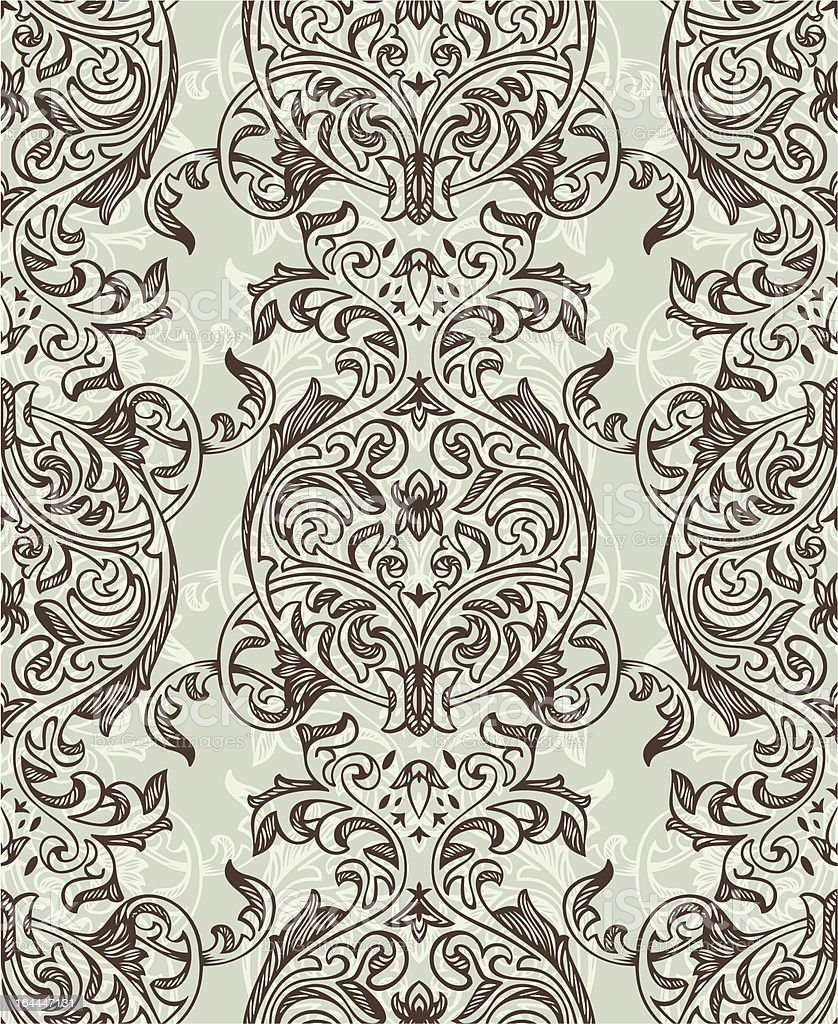 retro seamless floral pattern royalty-free stock vector art